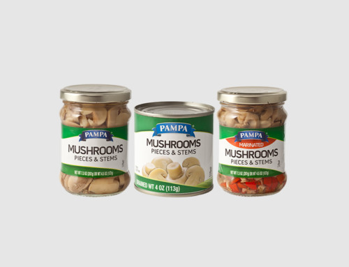 Pampa Mushrooms Pieces, Stems & Marinated