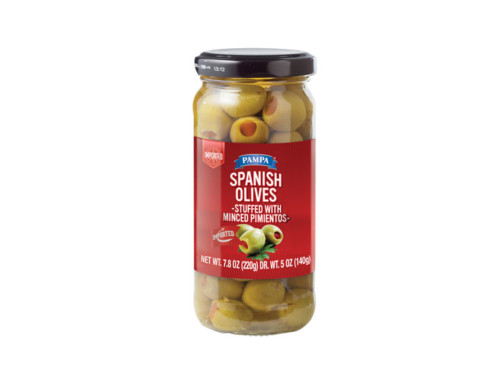 Pampa Spanish Olives Stuffed with Minced Pimientos