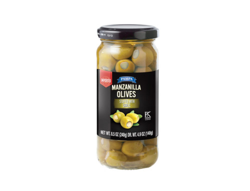 Pampa Manzanilla Olives Stuffed with Garlic