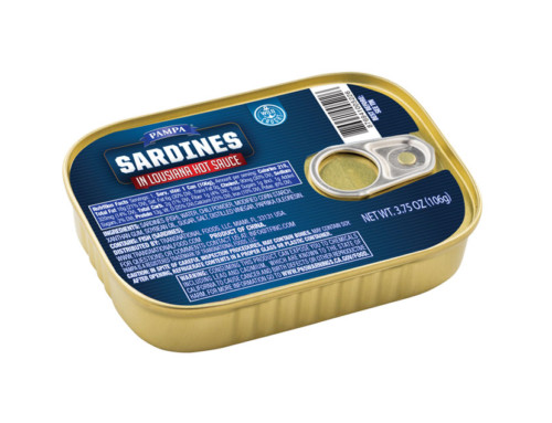 Pampa Sardines in Hot Louisiana Sauce