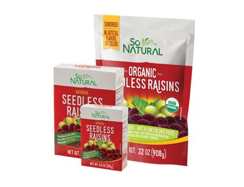 So Natural Organic Seedless Raisins