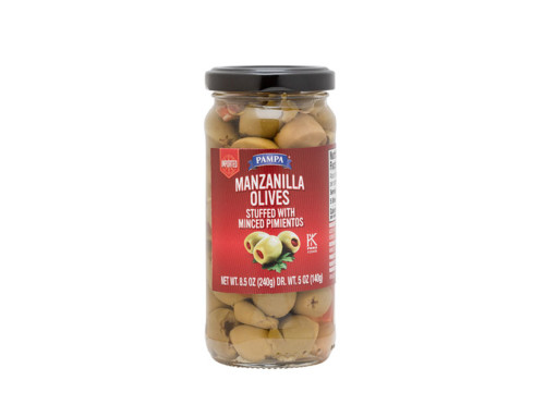 Pampa Manzanilla Olives Stuffed with Minced Pimientos