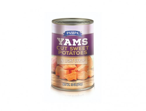 Pampa Yams Cut Sweet Potatos in Light Syrup